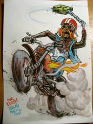 Zombie Biker by RalphNiese