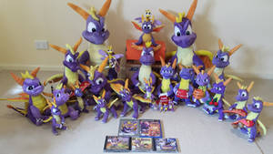 Entire Classic Spyro the Dragon Plush Collection