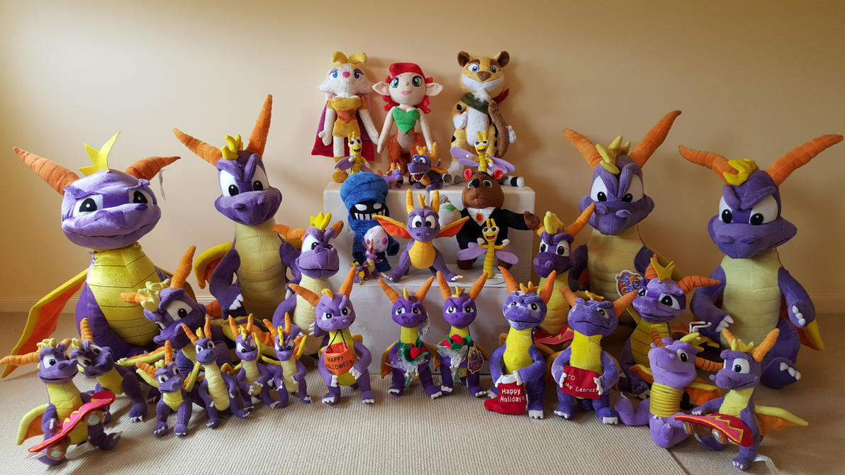 My complete Spyro the dragon plush toy collection! by frozendragonflames