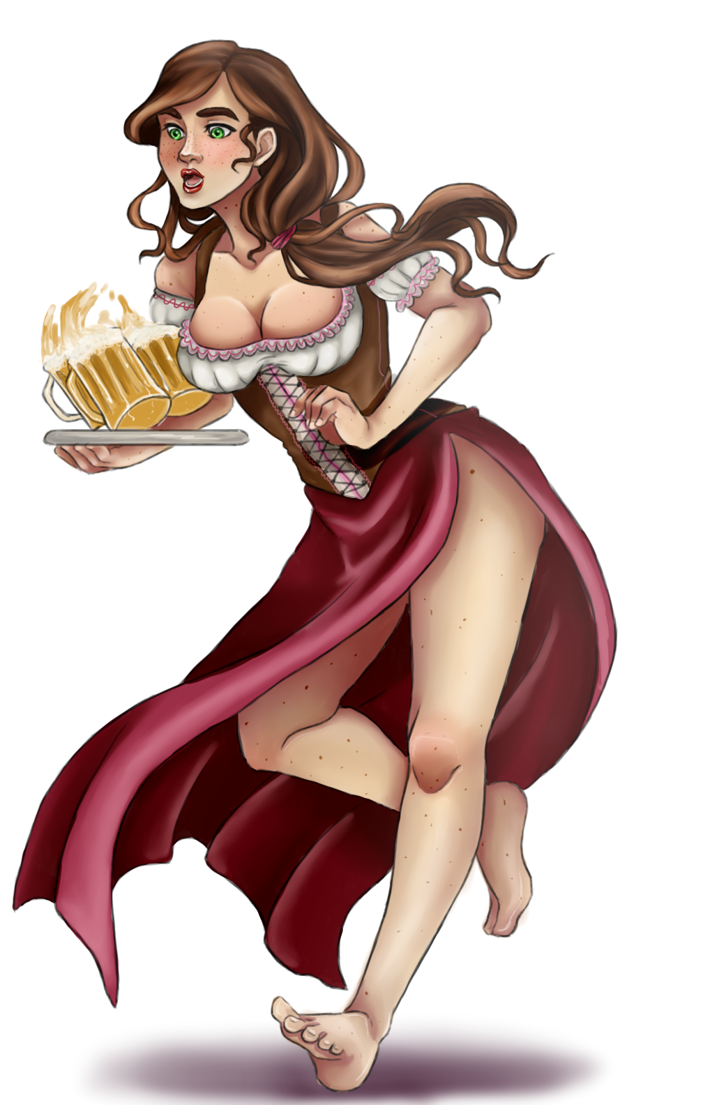 medieval busty maid