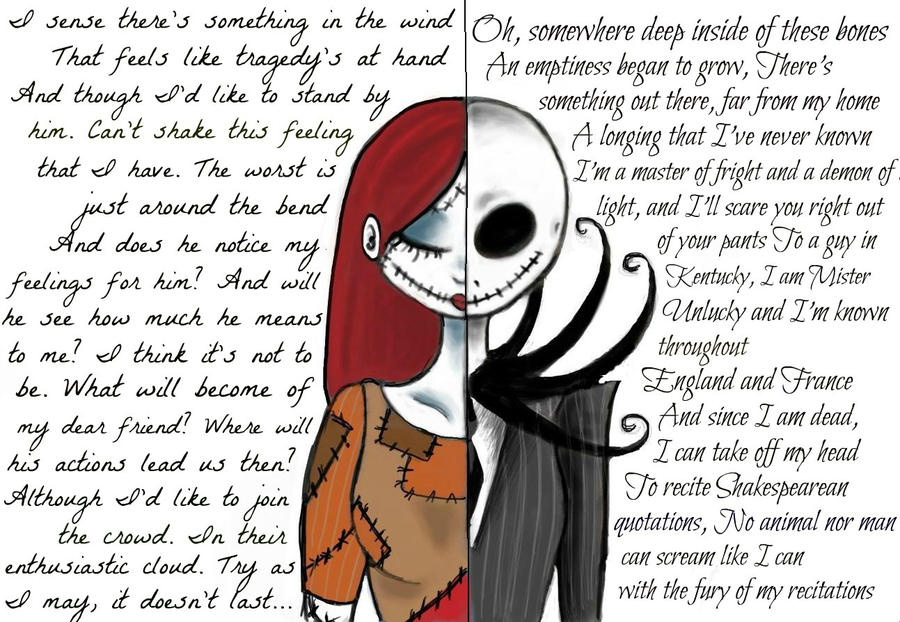 Sally and Jack (Nightmare before Christmas) by WilloWhisper18 on ...