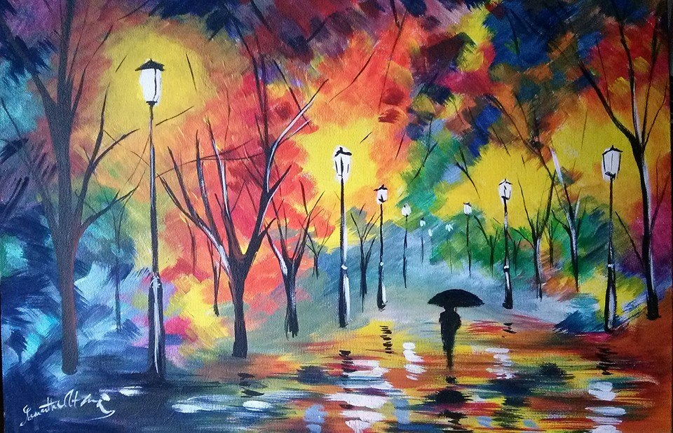 night feeling by leonid afremov by willowhisper18 on deviantart. Black Bedroom Furniture Sets. Home Design Ideas