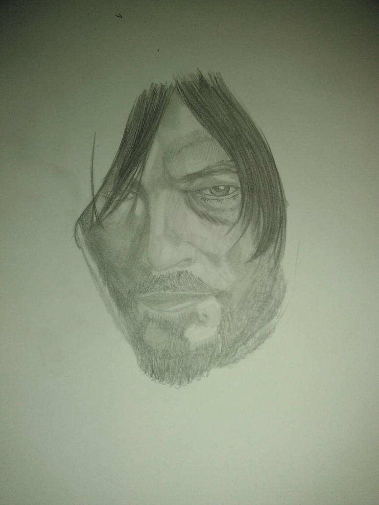 Daryl Dixon new and improved WIP  by FoB952