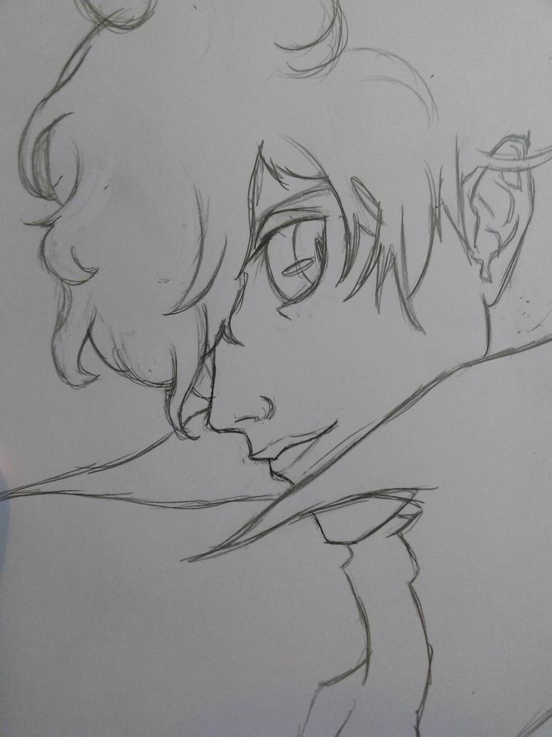 Persona 5 Protagonist Boredom Sketch by FoB952