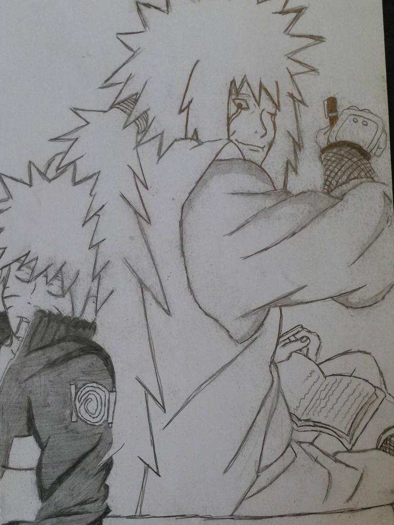 Naruto and Jiraiya boredom timewaster sketch by FoB952