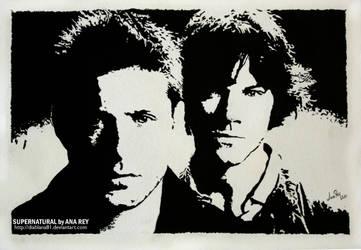 Supernatural. False engraving by diablana81