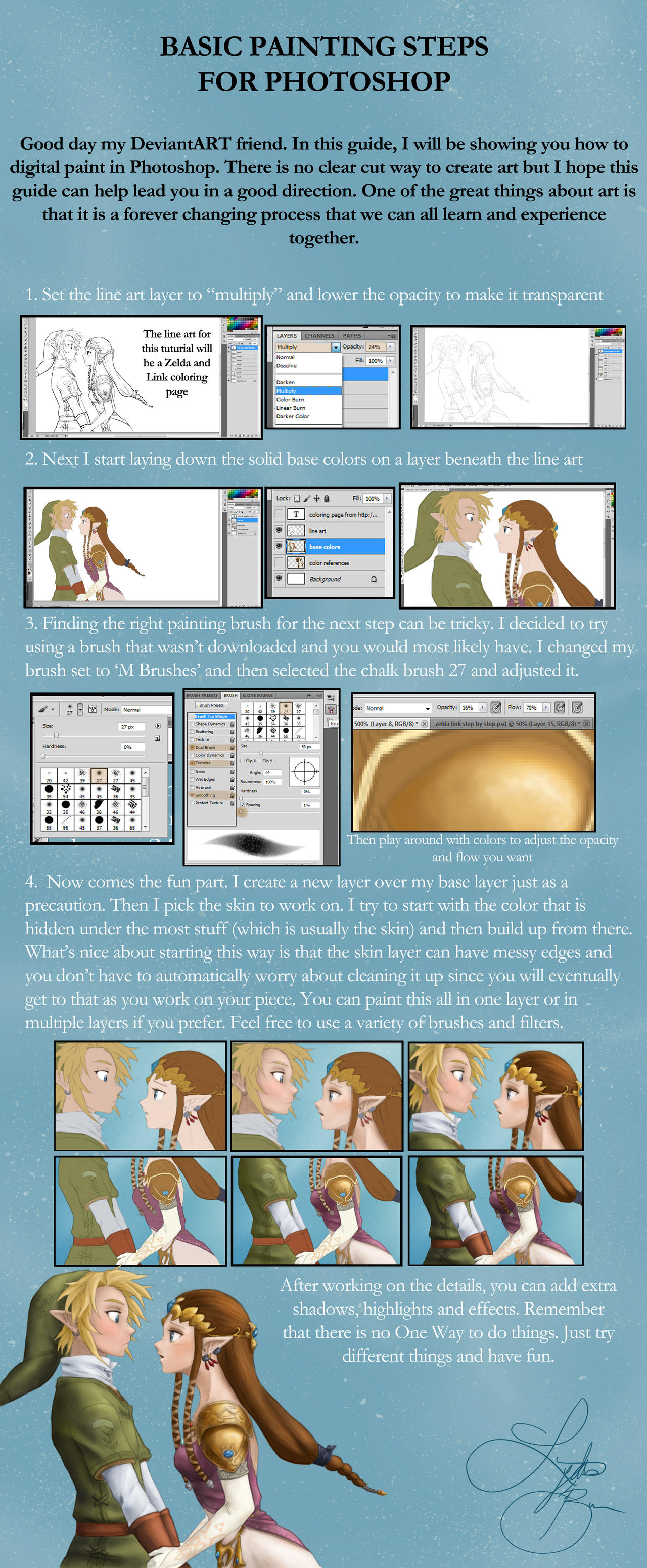 Basic Digital Painting Steps by Lydia-Burns