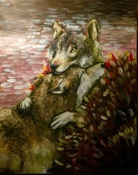 Autumn Wolves by AliyaSapphire