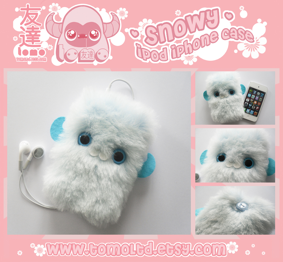 SNOWY - Kawaii iPhone iPod Case by TomodachiIsland