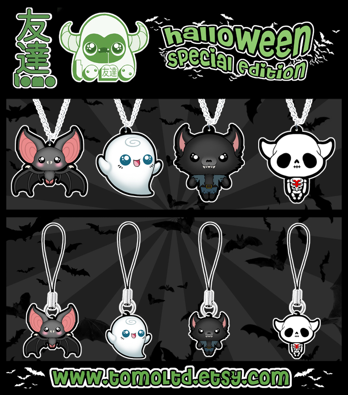 Kawaii Halloween Necklaces and Charms by TomodachiIsland
