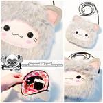 KITSUNE SHOULDER BAG - Grey Kawaii Fox ShoulderBag