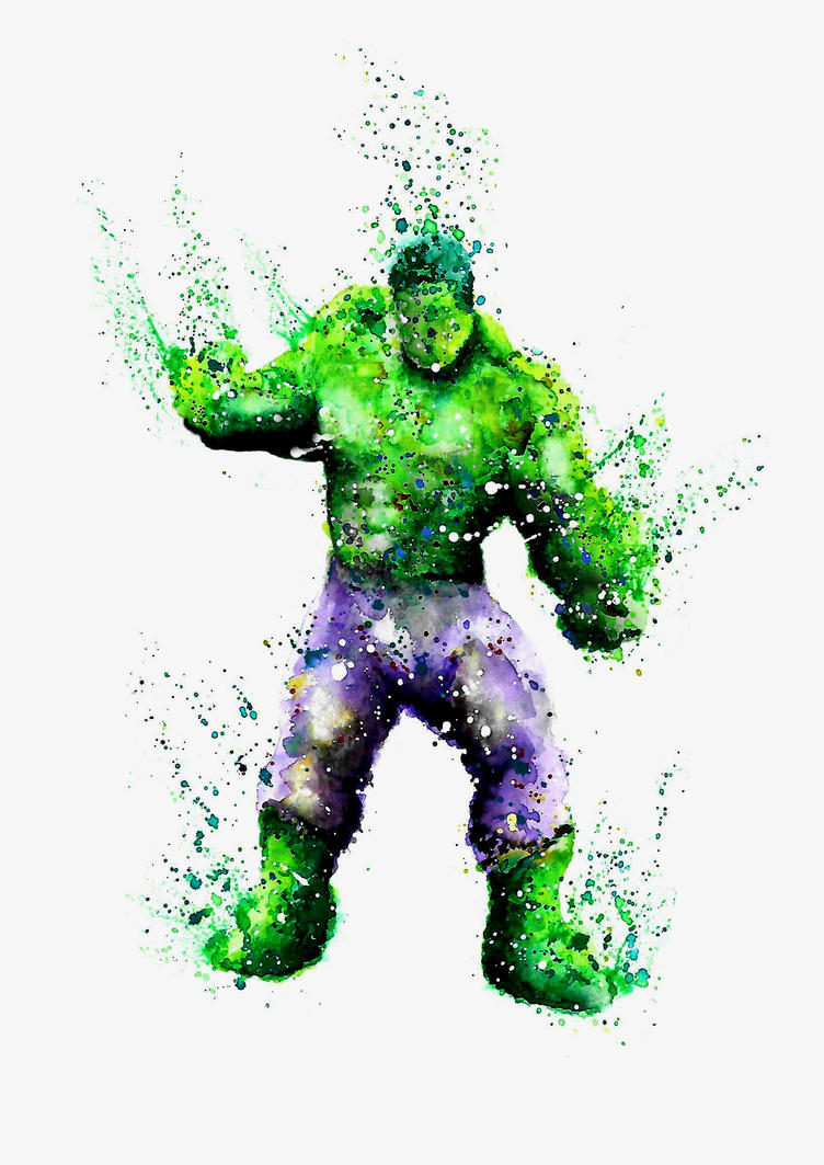 Hulk watercolour by Butlerdude
