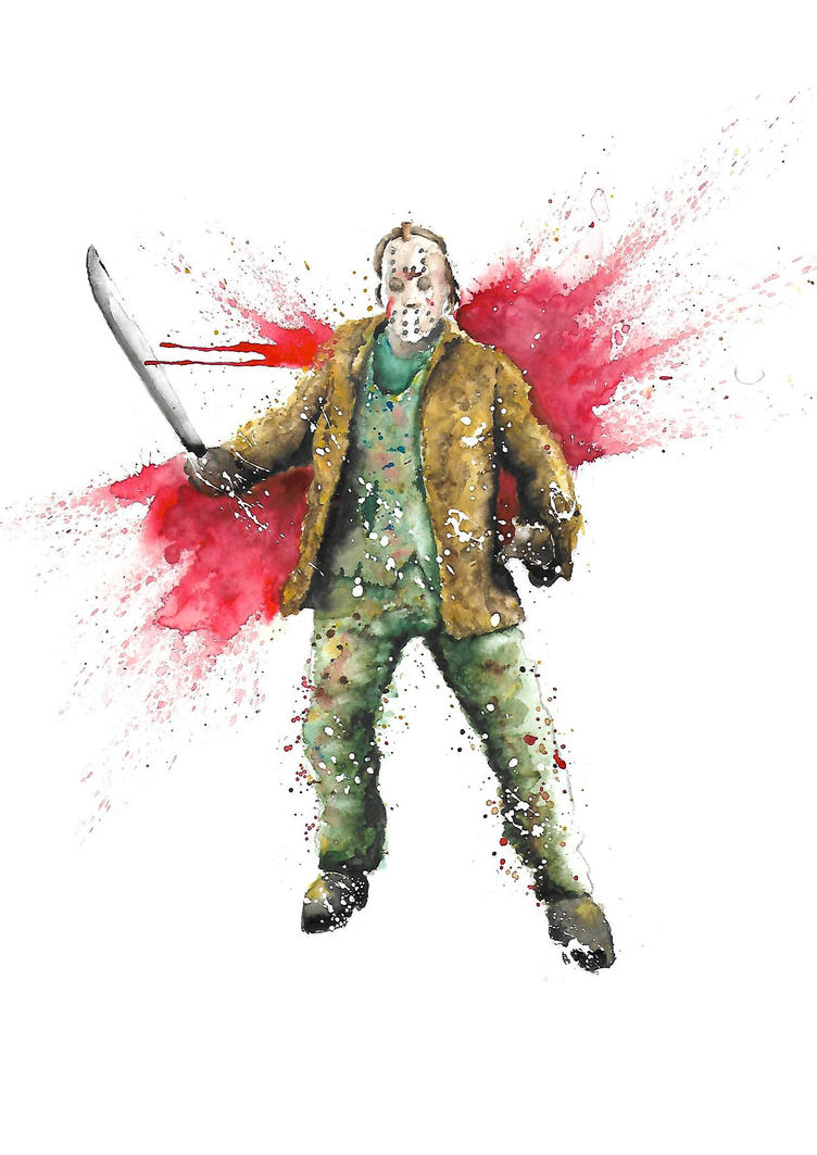 Jason Voorhees Watercolour by Butlerdude