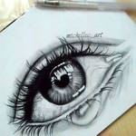 Realistic Crying Eyes Drawing ( Quick Drawing )