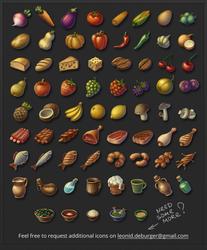 RPG Food Icon Pack by leonid-deburger