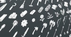 Fantasy RPG Flat Inventory Icons