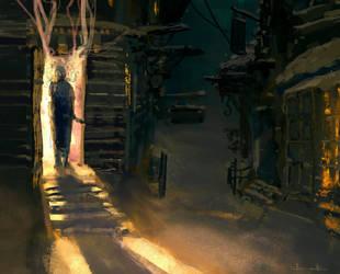 Village Snow by Ka---Z