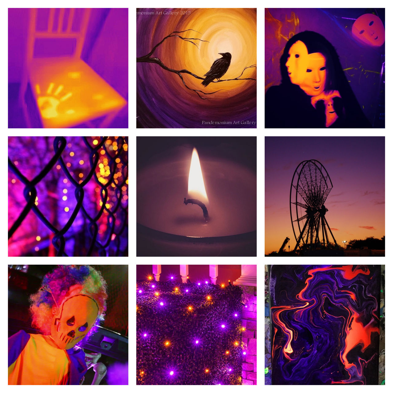 Orange Purple Kinda Creepy Moodboard By Osirisda On Deviantart