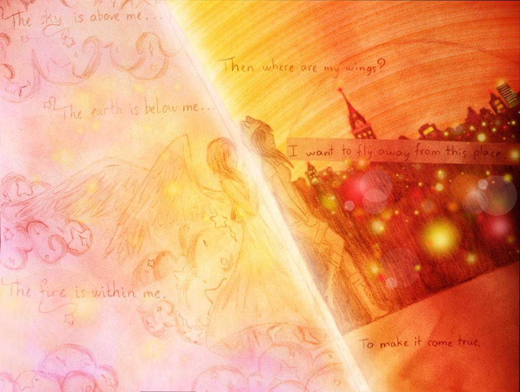 [RU] For *K i t s u n e* - sky, earth, fire by xdarkmemoriesx
