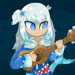 Sharkulele (Gawr Gura) - Inktober 25