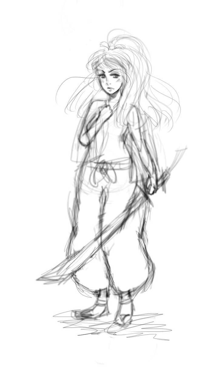 (OC) Ai Samurai sketch