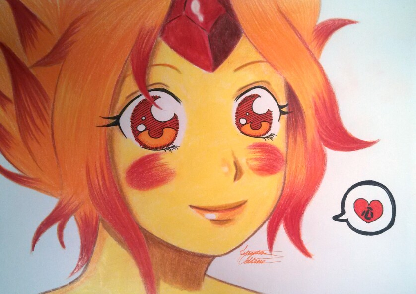 Flame Princess head shot by 33starrynight33