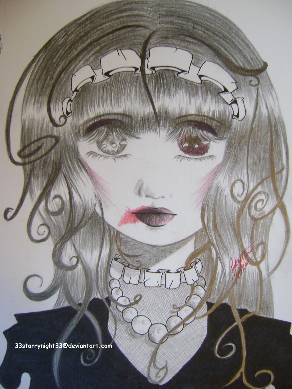 Creepy doll drawing by 33starrynight33 on DeviantArt