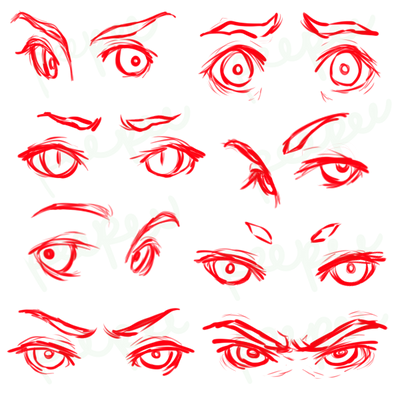 Eye Expressions Reference by peepeechu