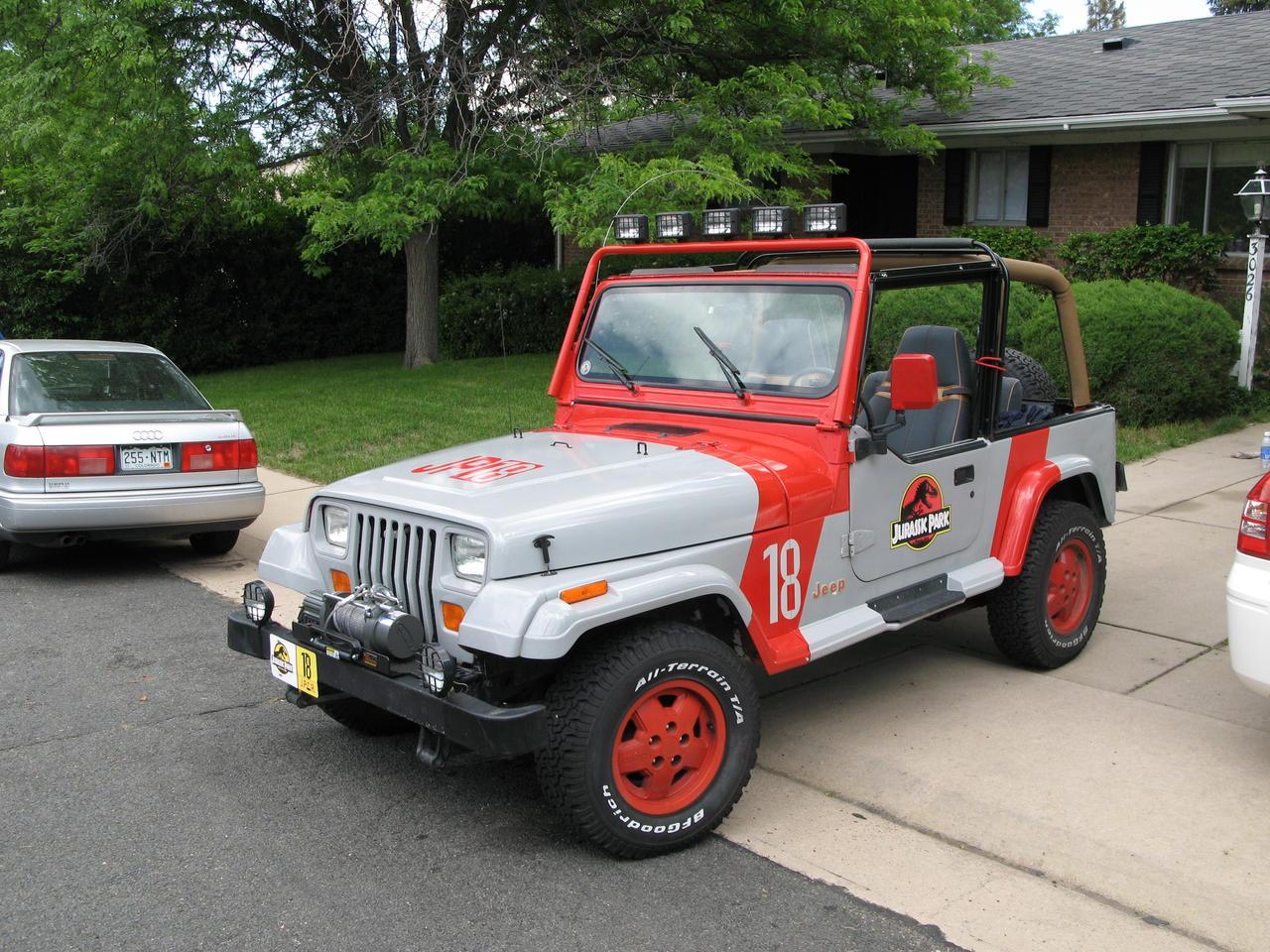 jurassic park jeep wrangler 38 by boomerjinks on deviantart