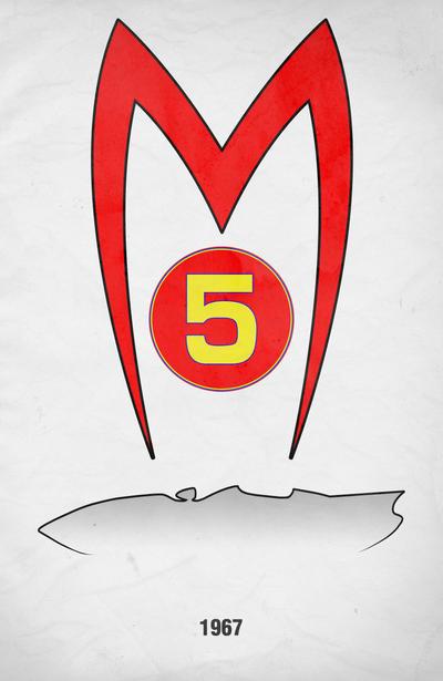 Movie Car Racing Posters - Mach 5 by Boomerjinks