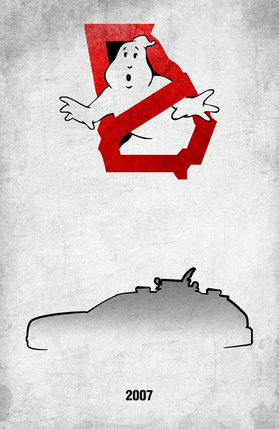 Movie Car Racing Posters - Georgia Ecto-1G by Boomerjinks
