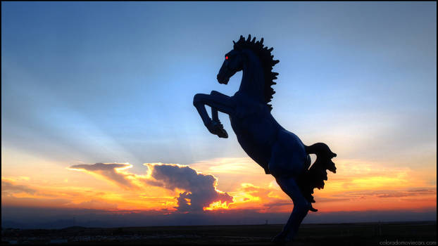 Bluecifer Wallpaper - DIA Demon Horse
