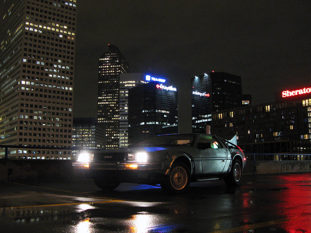 DeLorean Time Machine in Denver by Boomerjinks