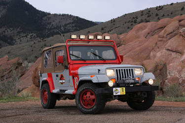 Jurassic Park Jeep at Red Rock