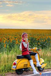 FLCL Haruko Vespa by Ifria Cosplay