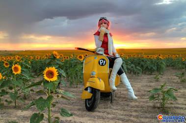 FLCL Haruko Vepsa by Ifria Cosplay by Boomerjinks