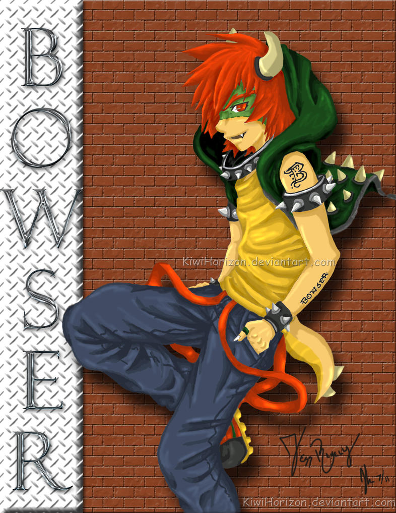 Human Bowser by KiwiHorizon