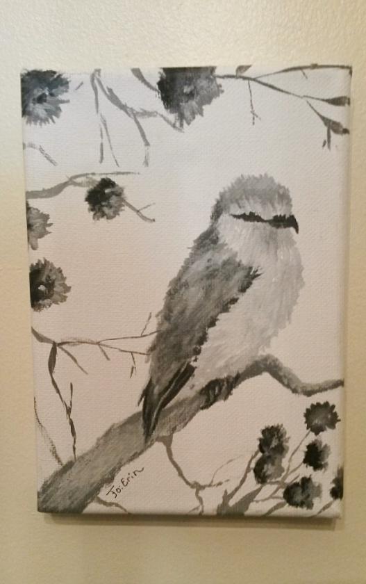 Bird: Acrylic Painting by KiwiHorizon