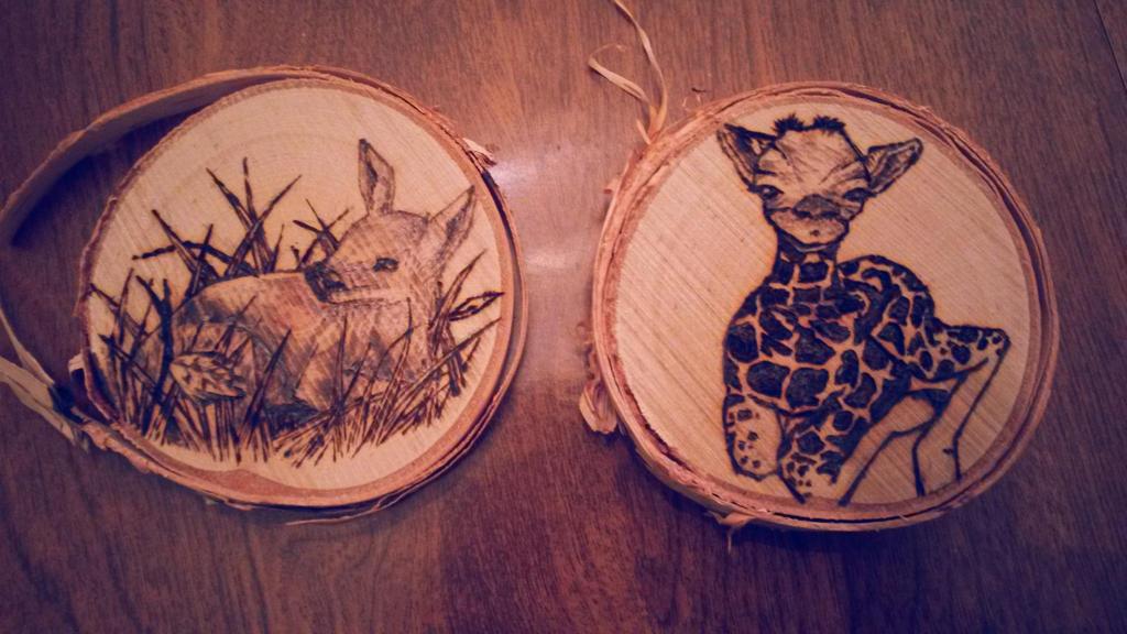 Woodburned Ornaments Gift by KiwiHorizon