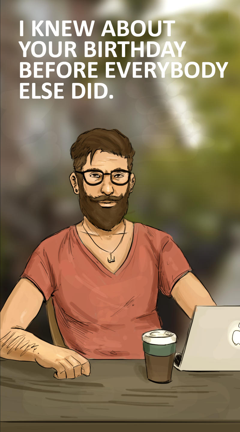 Birthday Card Hipster by BadLuckArt on DeviantArt – Hipster Birthday Cards