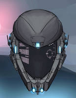 Cybercity Knights Helmet by BadLuckArt