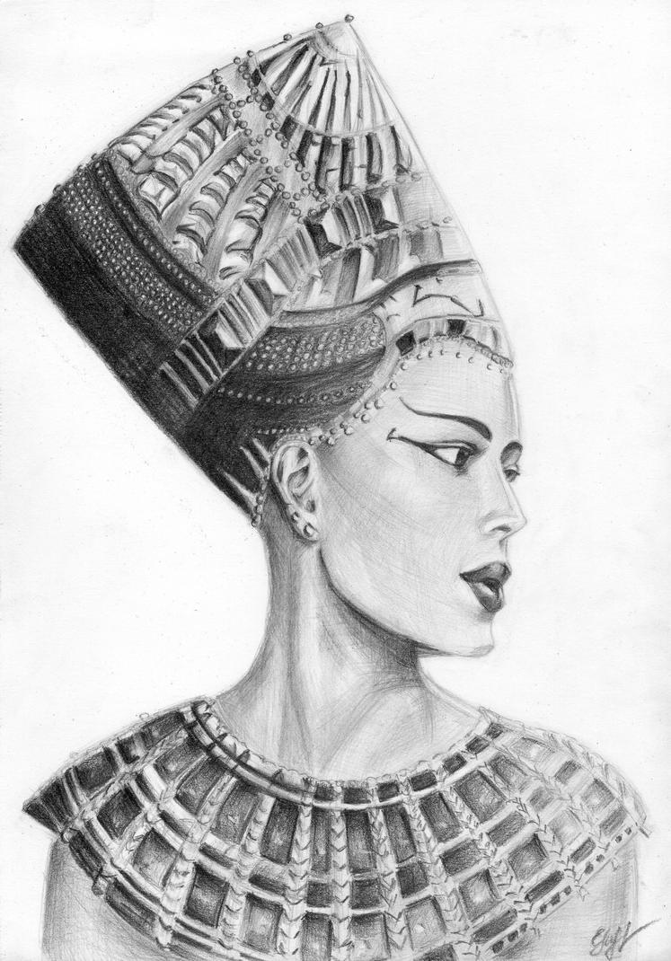Nefertiti Tattoos Designs, Ideas and Meaning | Tattoos For You |Nefertiti Tattoo Drawing