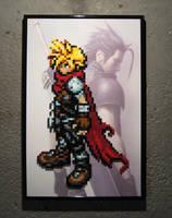 Perler Cloud (Kingdom Hearts GBA) by Dlugo1975