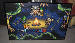 Perler Chrono Trigger Camp Scene by Dlugo1975