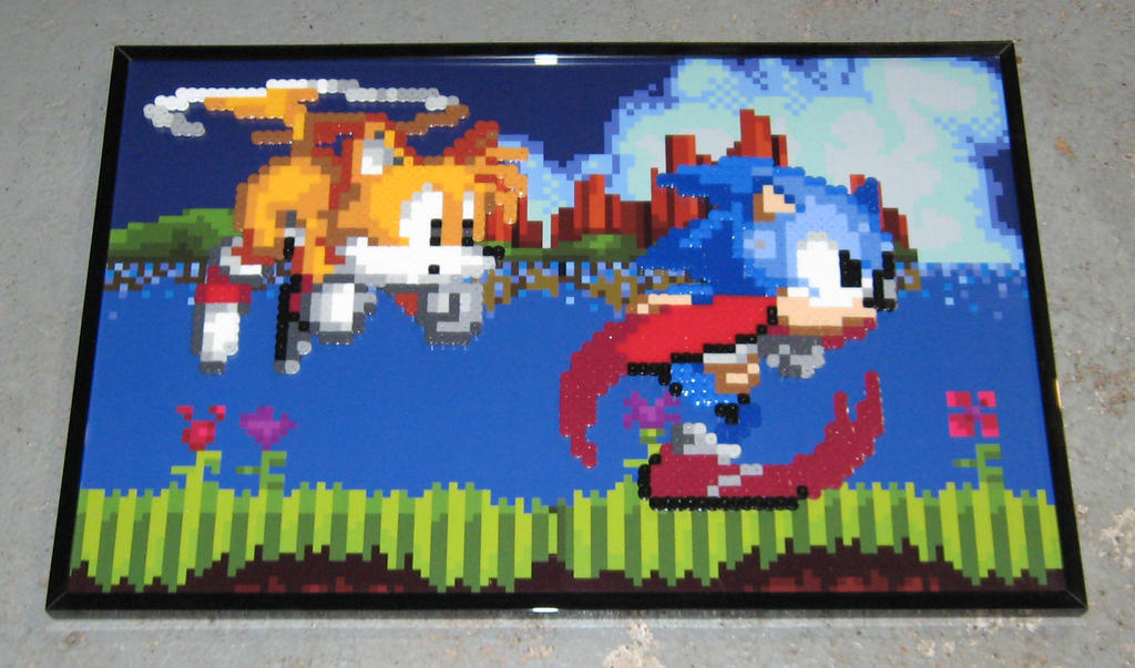 Perler Sonic and Tails by Dlugo1975