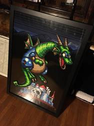 Perler Megaman 2 Dragon by Dlugo1975