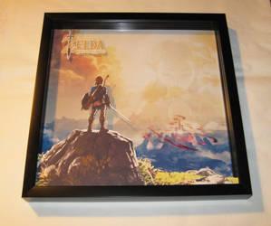 Zelda Breath of the Wild Shadowbox by Dlugo1975