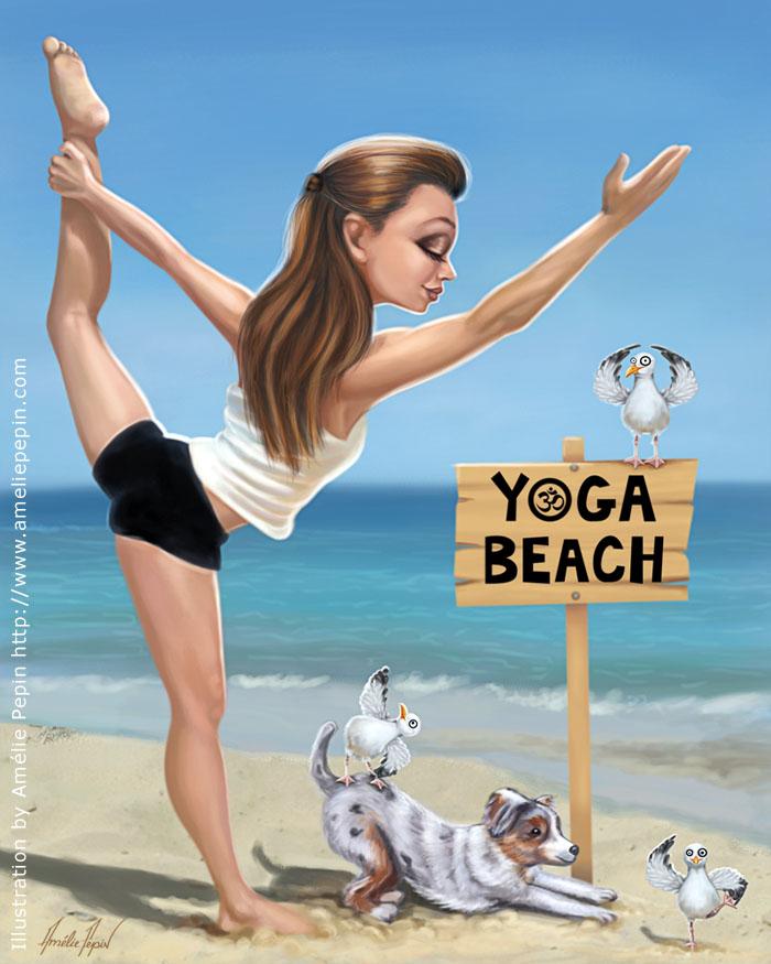 Yoga beach by TheTruthLiesWithin