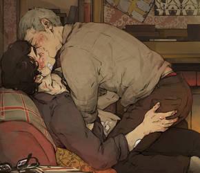 Sherlock: Kisses by sweetlittlekitty