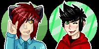Okami and Tarquin pixels